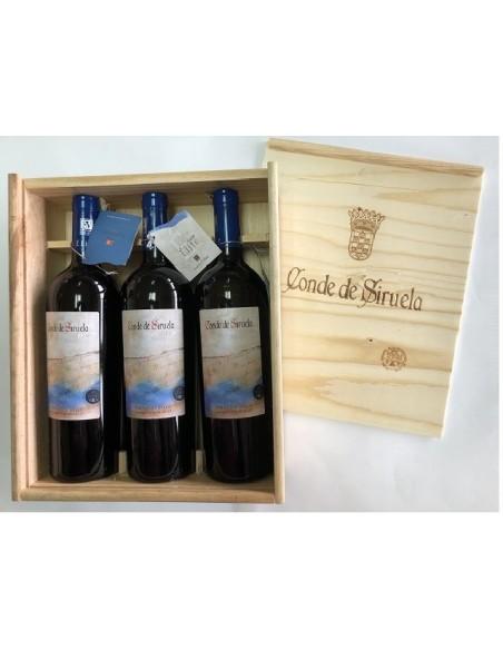 Estuche Madera Conde Siruela Elite - 3 Botellas