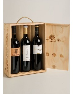 Caja de Madera 3 Botellas