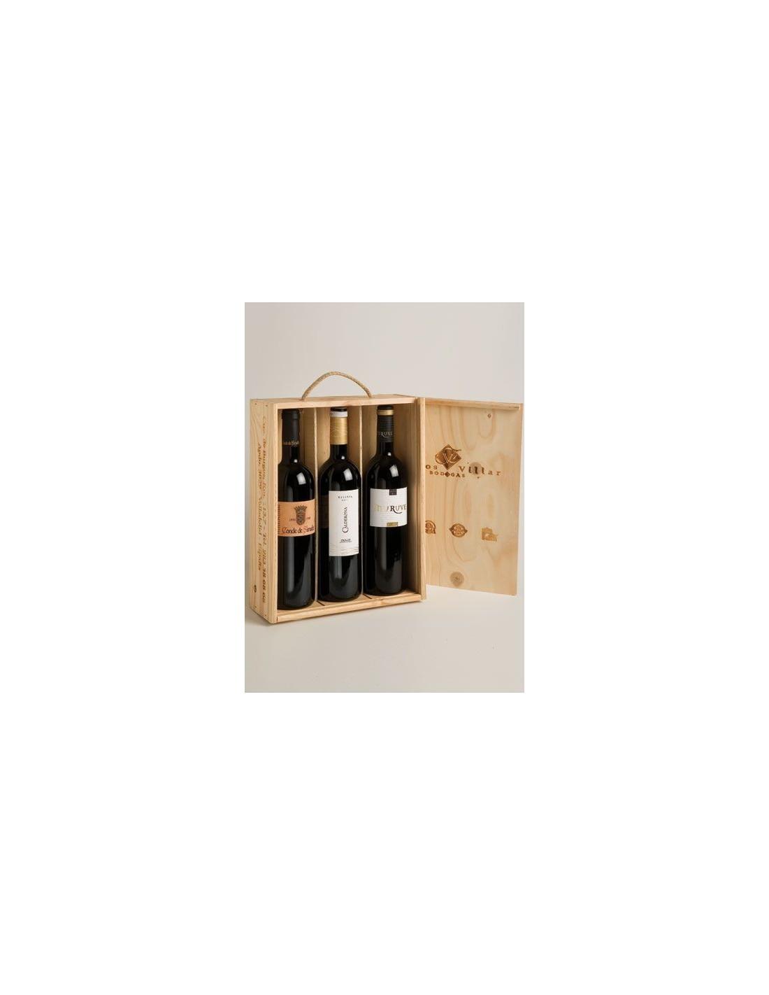 Caja de madera 3 botellas tienda on line bodegas frutos - Cajas de madera para botellas ...