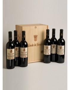 Caja de Madera de 6 Botellas Conde de Siruela